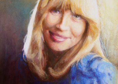1367 Junge Frau in blau Acryl