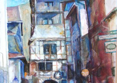 1212 Markt Turm Bacharach Acryl