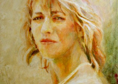 1368 Junge Frau Acryl