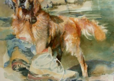 1370 Golden Retriever Aquarell