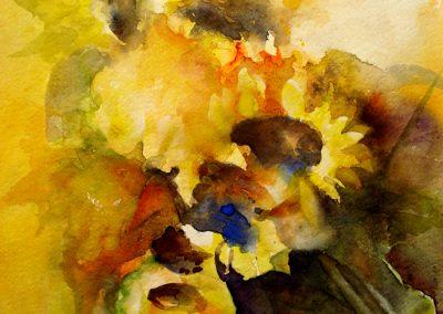 1088 Sonnenblumen Aquarell