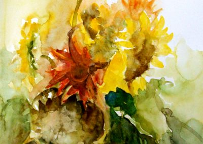 1180 Sonnenblumen II. Aquarell