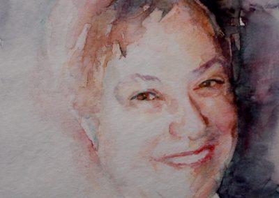 1043 Kato Ehefrau des Künstlers Aquarell