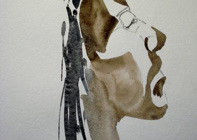 1082 Der Massai II. Aquarell
