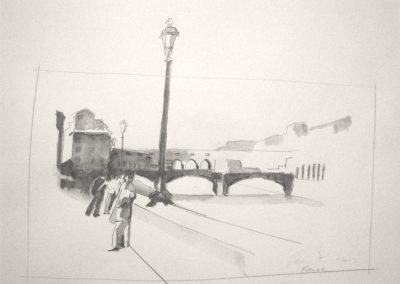 0933 Dreibogen Brücke Florenz
