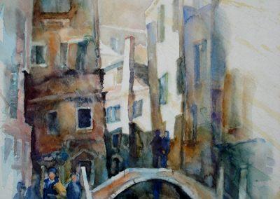 0966 Fondamente dell Osmarin Venezia Aquarell