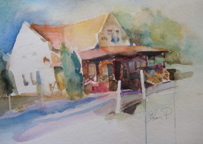1427 Pension Goldbach HU Aquarell