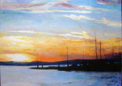 1430 Sonnenuntergang am Balaton See HU Acryl