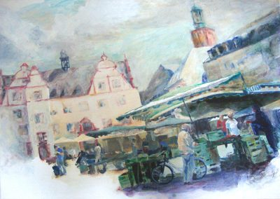 1262 Marktplatz Darmstadt Acryl