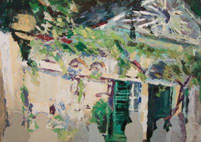 1207 Nebbin. Gartenhaus zur vernisage Fft.Acrylssage