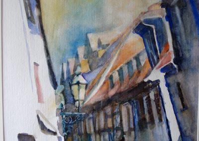 1090 Altstadt Höchst Fft. Aquarell