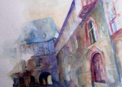 1306 Schloss Idstein Aquarell