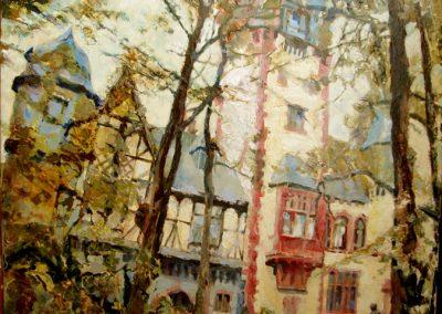 1346 Ehmal. Villa Andreae Königstein Acryl
