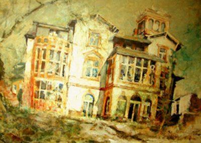 1345 Ehmal. Villa Blaschek Königstein Acryl