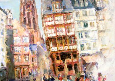 1354  Die neue Altstadt, Krönungsweg, Ostzeile Acryl