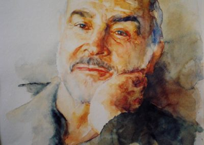 0984 Sir Sin Connery Aquarell