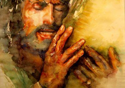 0974 Die Passion Christi Aquarell
